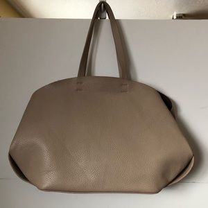 Zara taupe Leather tote - OS